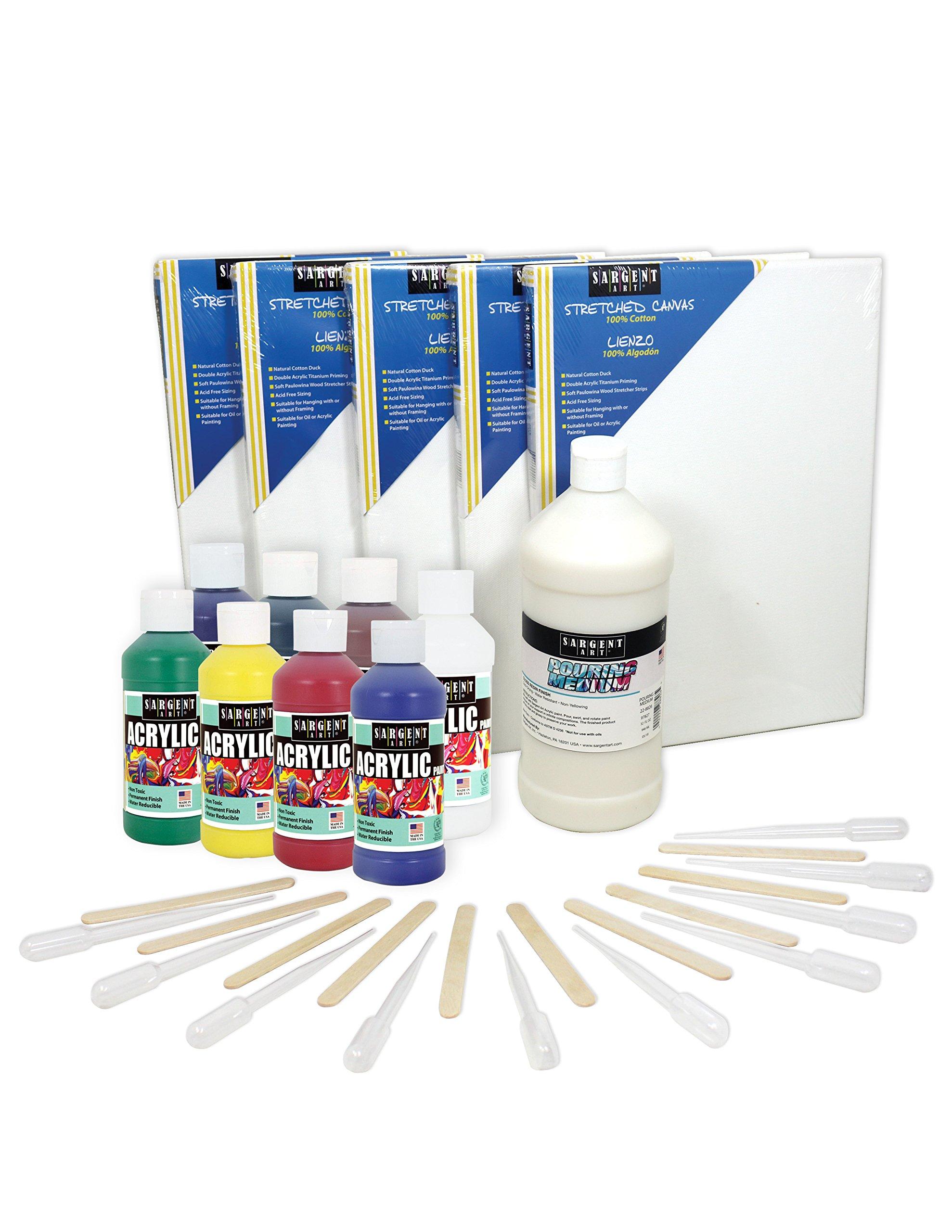 Sargent Art 22-0064 Acrylic Pouring Medium Kit, Assorted