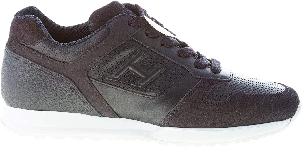 Hogan Uomo H321 Sneaker In Pelle E Camoscio Blu Con Forature Color Blu Size 45 Eu Uk 10 5 Amazon It Scarpe E Borse