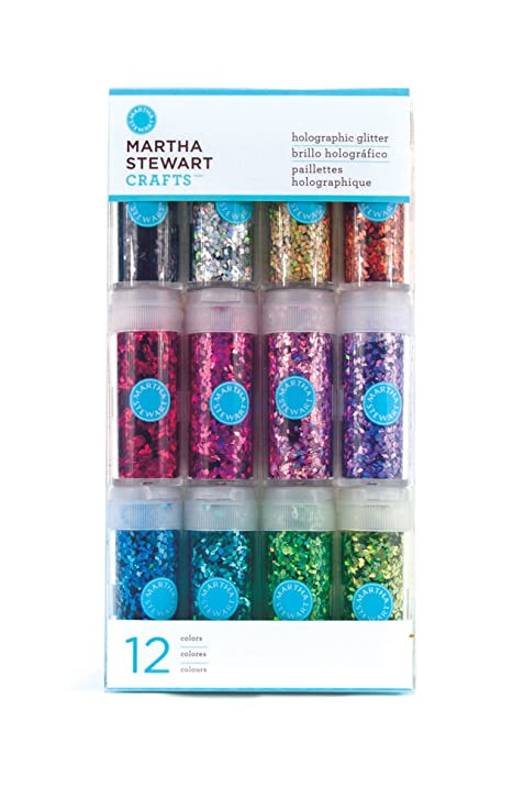 Amazon.com: Martha Stewart Crafts Holographic Glitter, 12-Pack