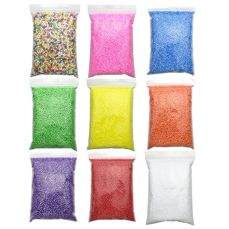 Styrofoam Foam Balls, Colorful Mini Polystyrene Styrofoam Foam Craft Round Balls Beads for Slime Wedding Celebration Decoration, 2 Pack, 48.8 Cubic Inches in Total, White Smalleye-Island 4336860741