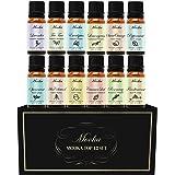 Essential Oils, Mooka Top 12 100% Pure Therapeutic Grade Aromatherapy Essential Oil Set Starter Kit for Diffusers (Lavender, Tea Tree, Eucalyptus, Lemongrass, Sweet Orange, Peppermint..) w/Free E-Book