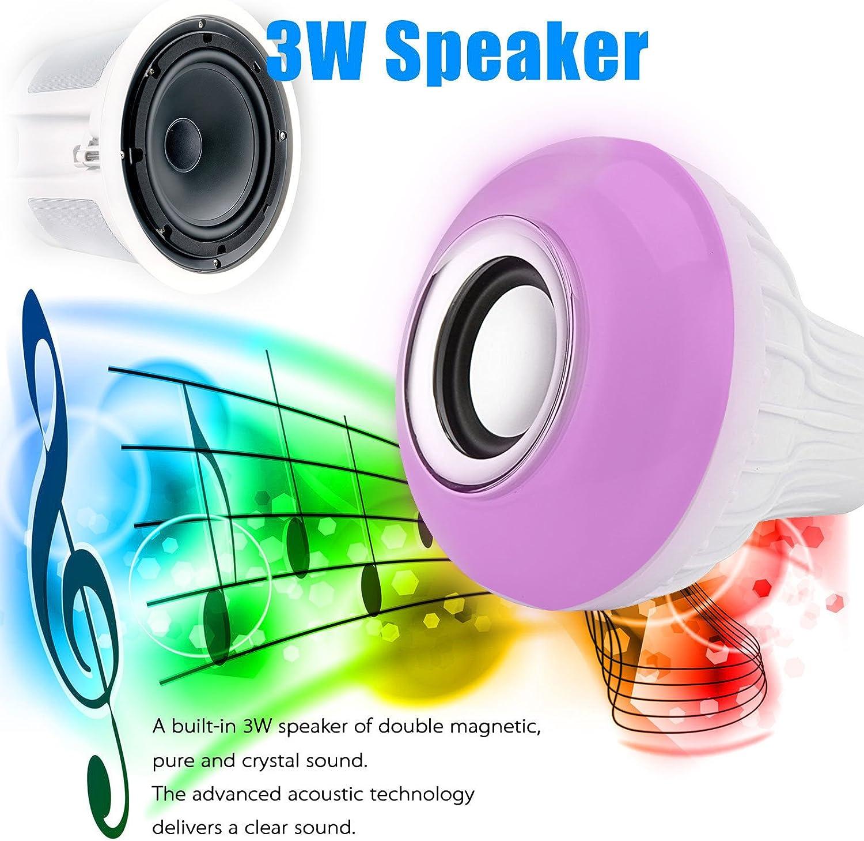 1 Kanstar LED RGB Color Bulb Light E27 Bluetooth Control Smart Music Audio