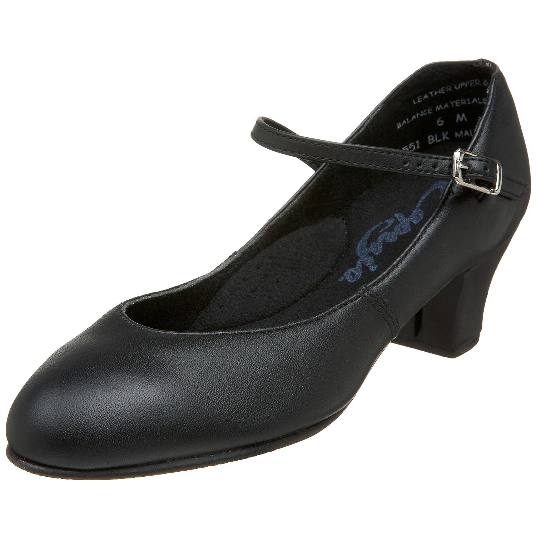 Black Capezio Women's 551 Leather Jr. Footlight Character shoes