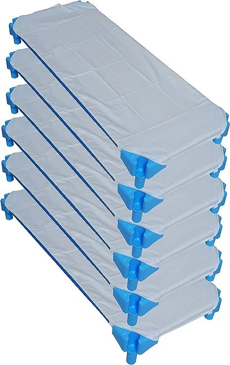 Ti TIN Pack de 6 S/ábanas Bajeras para Cuna Apilable de Guarder/ía//100/% Algod/ón color azul 53x132 cm