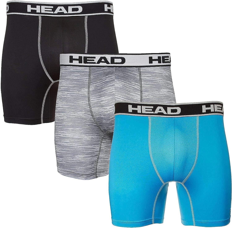 HEAD Mens Performance Underwear 3PACK Boxer Briefs