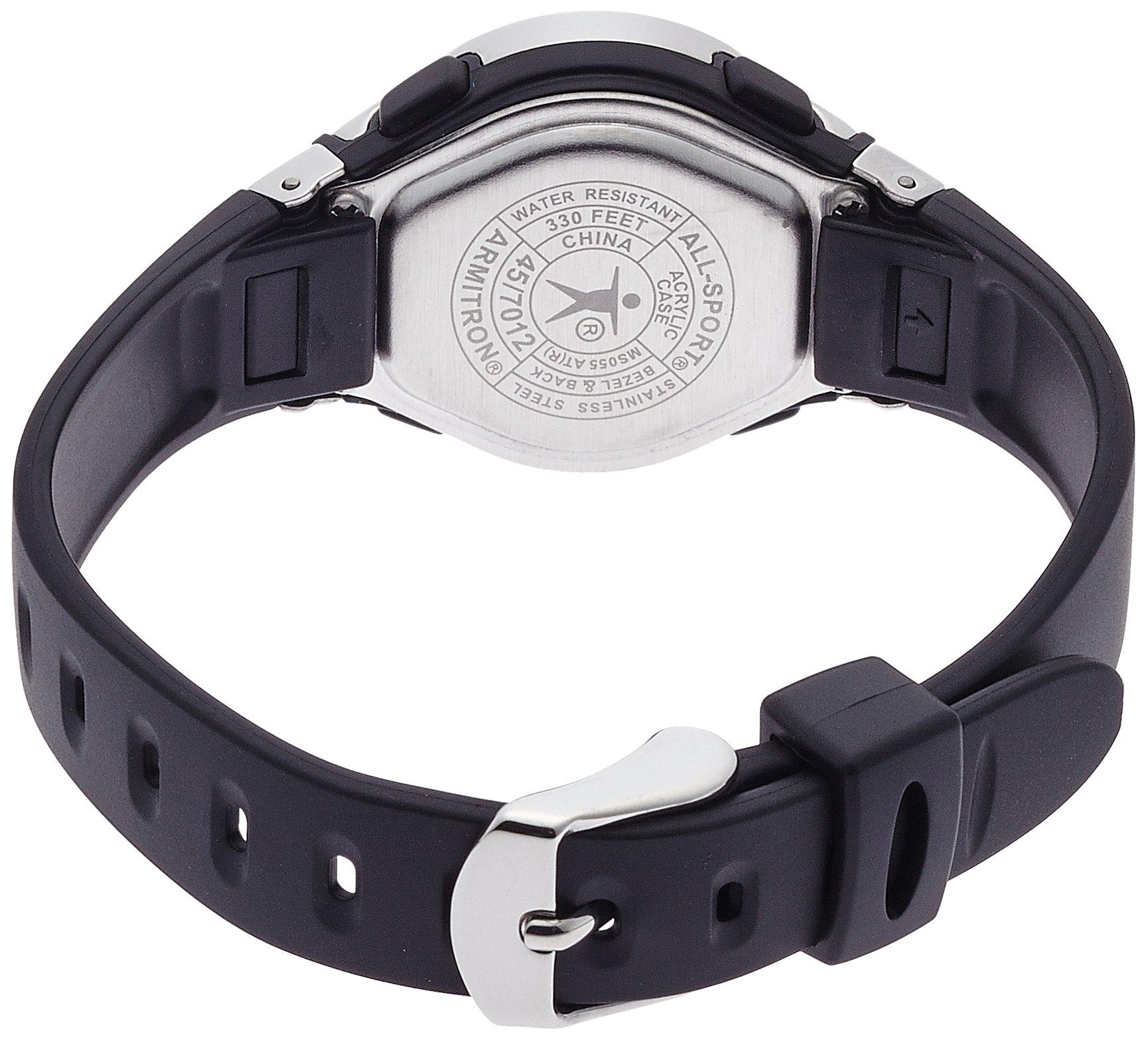 Original armitron sport women 457012blk chronograph black resin stainless steel ebay for Black resin ladies watch