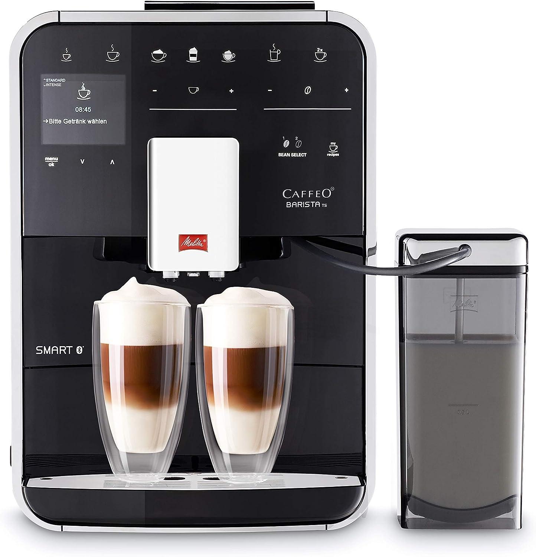 Melitta Caffeo Barista TS Smart F850-102 F850-102-Cafetera Automática, Super Silenciosa, Control con App Connect, Función One Touch, 1450 W, 1.8 litros, Acero Inoxidable, 5 Velocidades, Negro: Amazon.es: Hogar