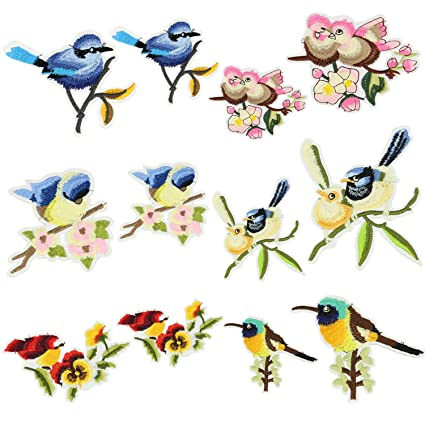 Iron On Patch Embroidery Patches Satkago 12pcs Diy Bird Patterns