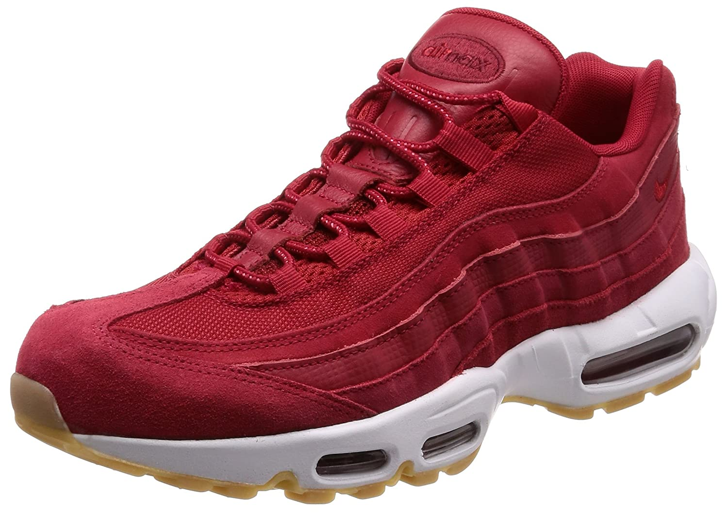 brand new 1694f a9d0f Nike Men's Air Max 95 Premium Sneaker Gym Red/Team Red/White ...