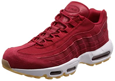 7e0d51be90 Amazon.com | Nike Men's Air Max 95 Premium Sneaker Gym Red/Team Red ...