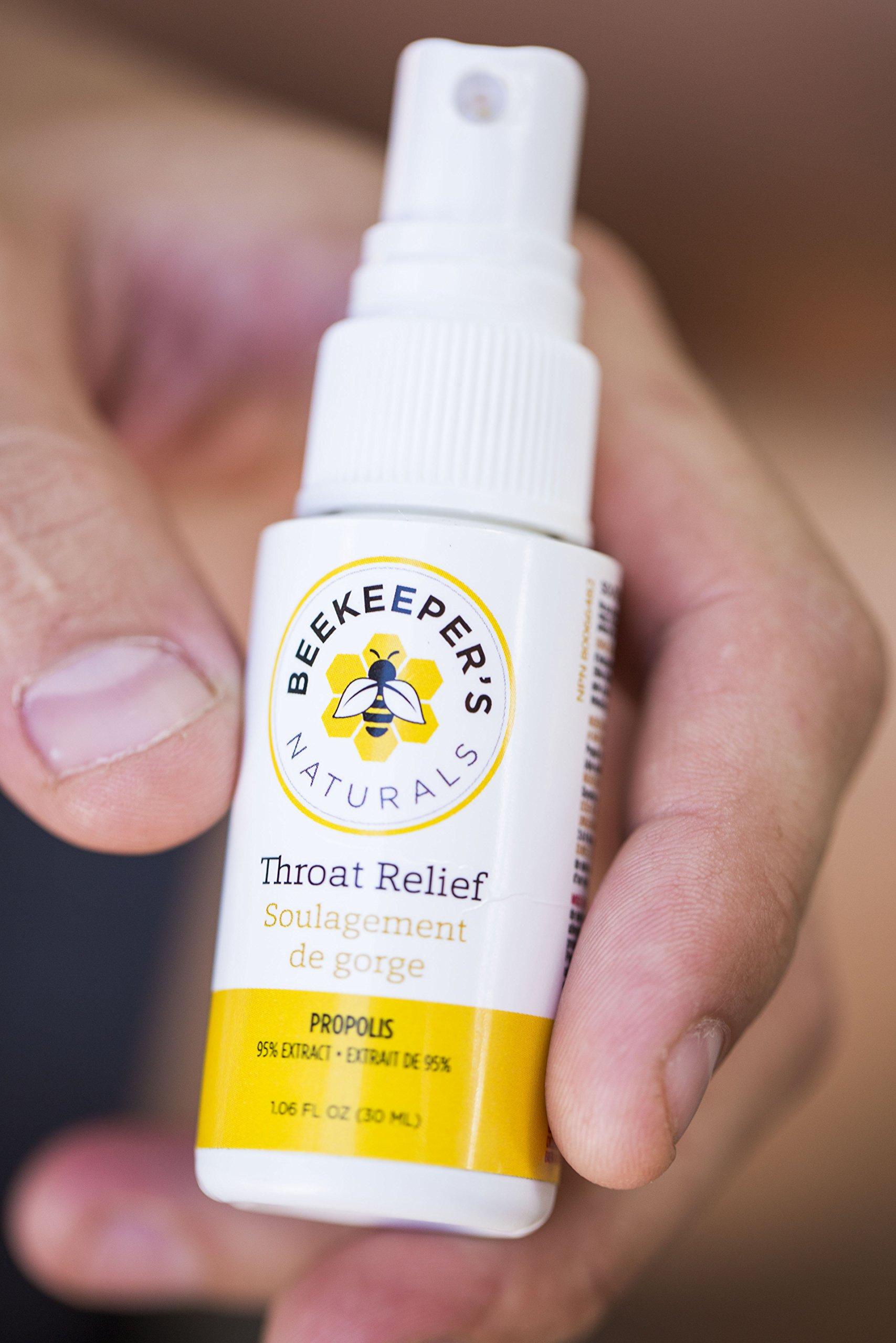 Bee Propolis Throat Spray by Beekeeper's Naturals   Premium