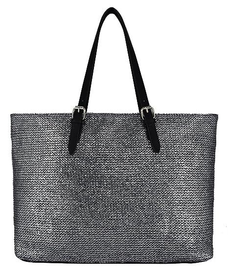 David Jones - Women s Straw Top Handle Shoulder Handbags Tote Purse - Large  Size Long Handle 4c9d49617aef0