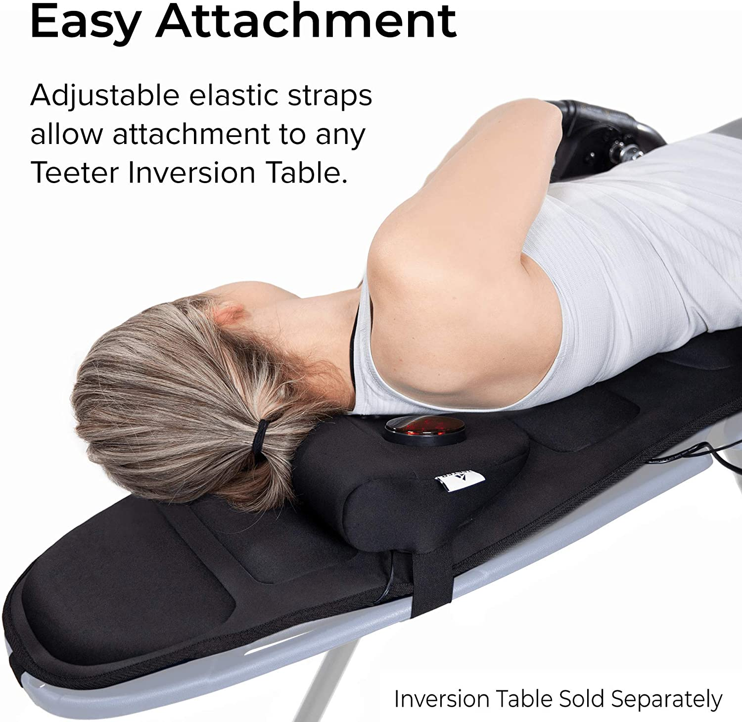 Teeter Better Back Vibration Massage Cushion with Neck Support - Accessory for Inversion Table : Inversion Equipment : Sports & Outdoors