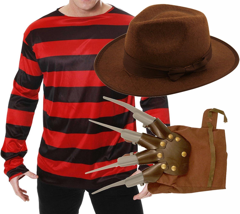 Disfraz de Freddy Krueger para Halloween: incluye camiseta ...