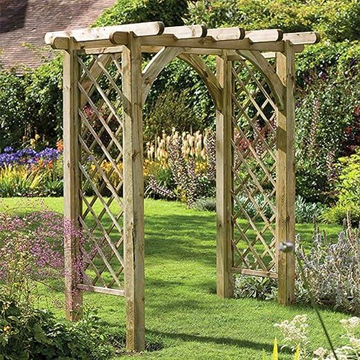 Ultima pérgola Arch resistente estructura de entramado, jardín al ...