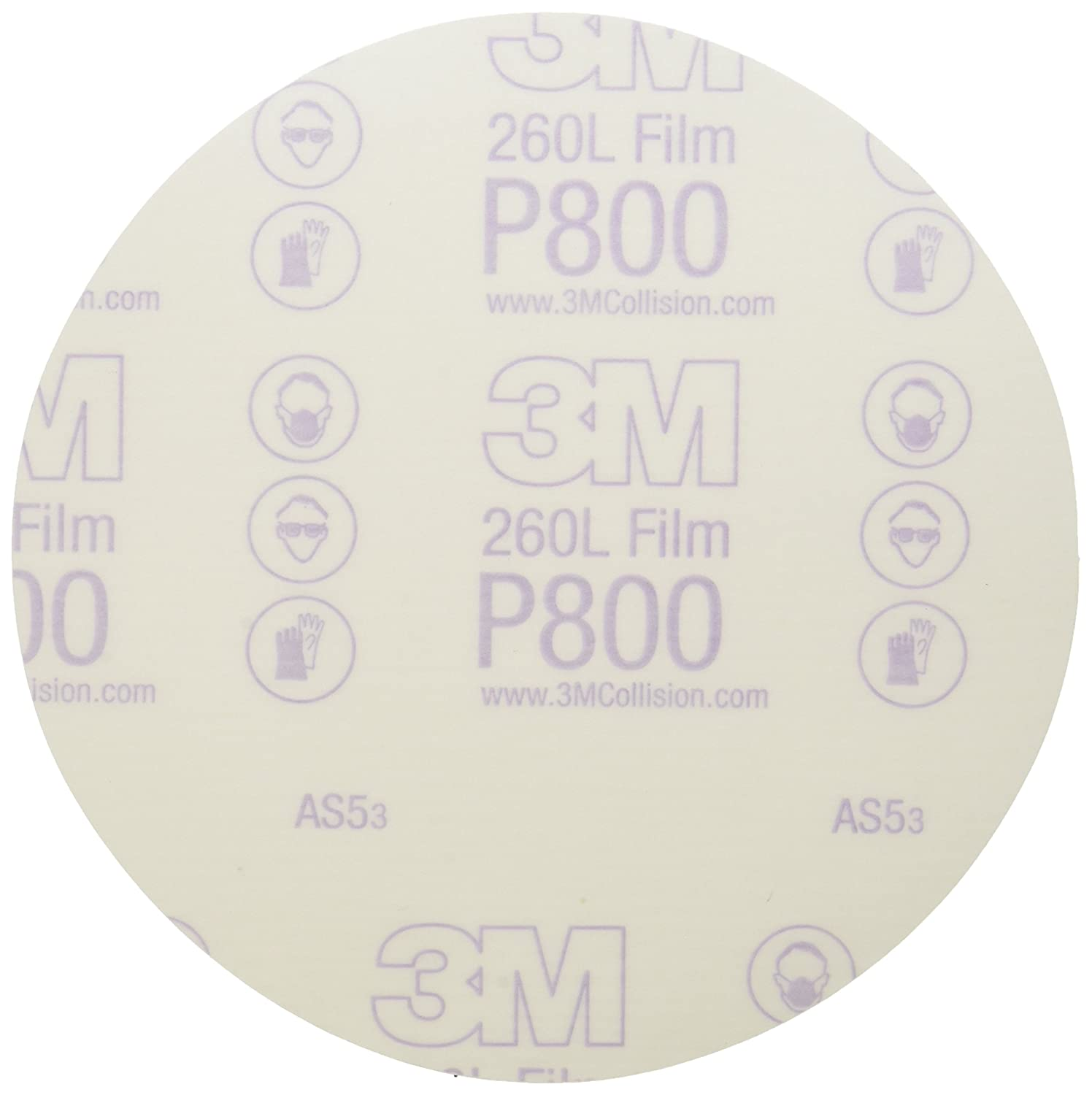 3M Stikit Finishing Film Abrasive Disc 260L, 01320, 6 in, P800, 100 discs per carton