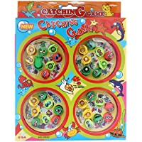 Oviwa Plastic Battery Operated Catching Game with 4 Pools (Multicolour)