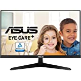 """ASUS VY249HE 23.8"""" Eye Care Monitor, 1080P Full HD, 75Hz, IPS, Adaptive-Sync/FreeSync, Eye Care Plus, Color Augmentation, Res"""