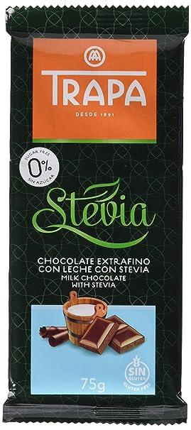 Trapa Tableta de Chocolate Extrafino, con Leche y Stevia - 75 gr