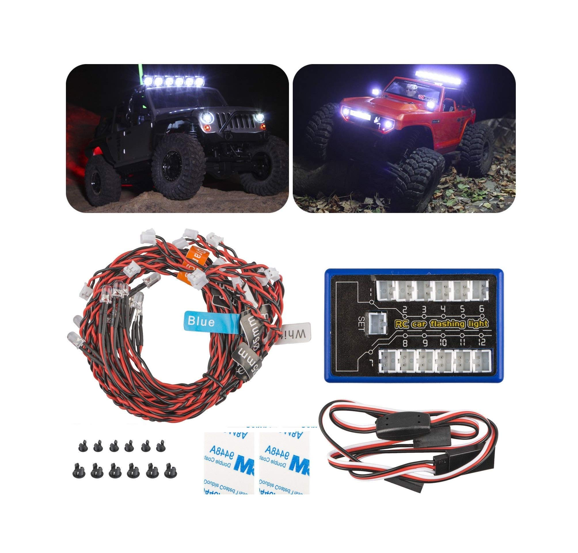 Reliable LED Light Kit Brake&Headlight&Signal 2.4ghz PPM FM for HSP Hobby RC 1:10 Car Truck Quick Arrive