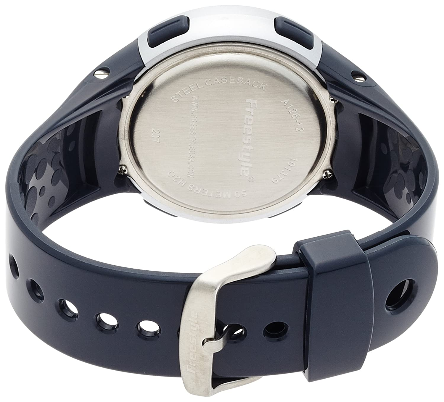 289257f4b3d Amazon.com  Freestyle Unisex 101379 Cadence Round Fitness Workout Blue Watch   Freestyle  Watches