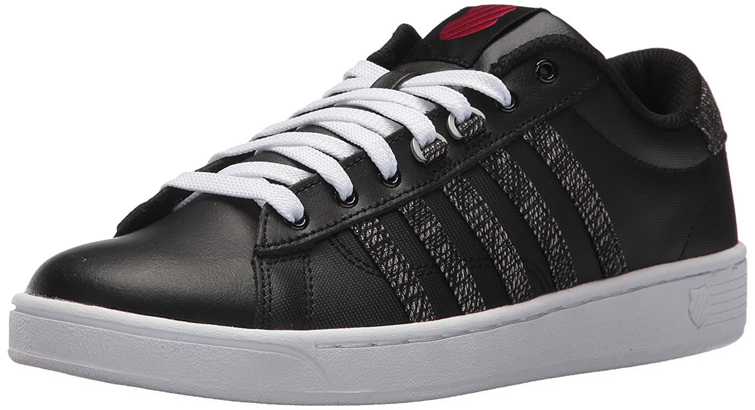 K-Swiss Women's Hoke CMF Sneaker B071VVHSNV 8 B(M) US|Black/White/Chili Pepper
