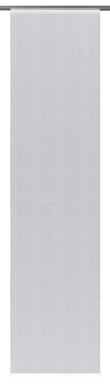 Blickdicht Schiebegardine BxH 60 x 245 cm GARDINIA Fl/ächenvorhang Fl/ächenvorhang Stoff Digitaldruck Fischgr/ät Grau 1 St/ück