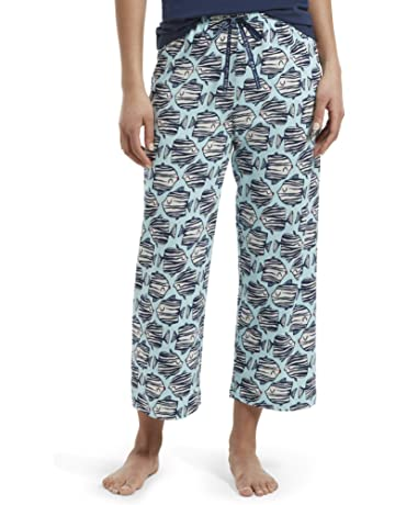 137f2f5bbe HUE Women's Plus Capri Printed Knit Pajama Sleep Pant, Plume - Kissing  Fish, ...