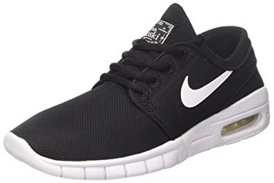 NIKE Kids Stefan Janoski Max (GS) Black/White Skate Shoe 3.5 Kids US