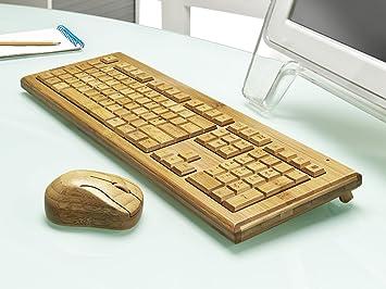 Artis - Teclado y ratón inalámbricos para PC (bambú, fabricados a mano): Amazon.es: Electrónica