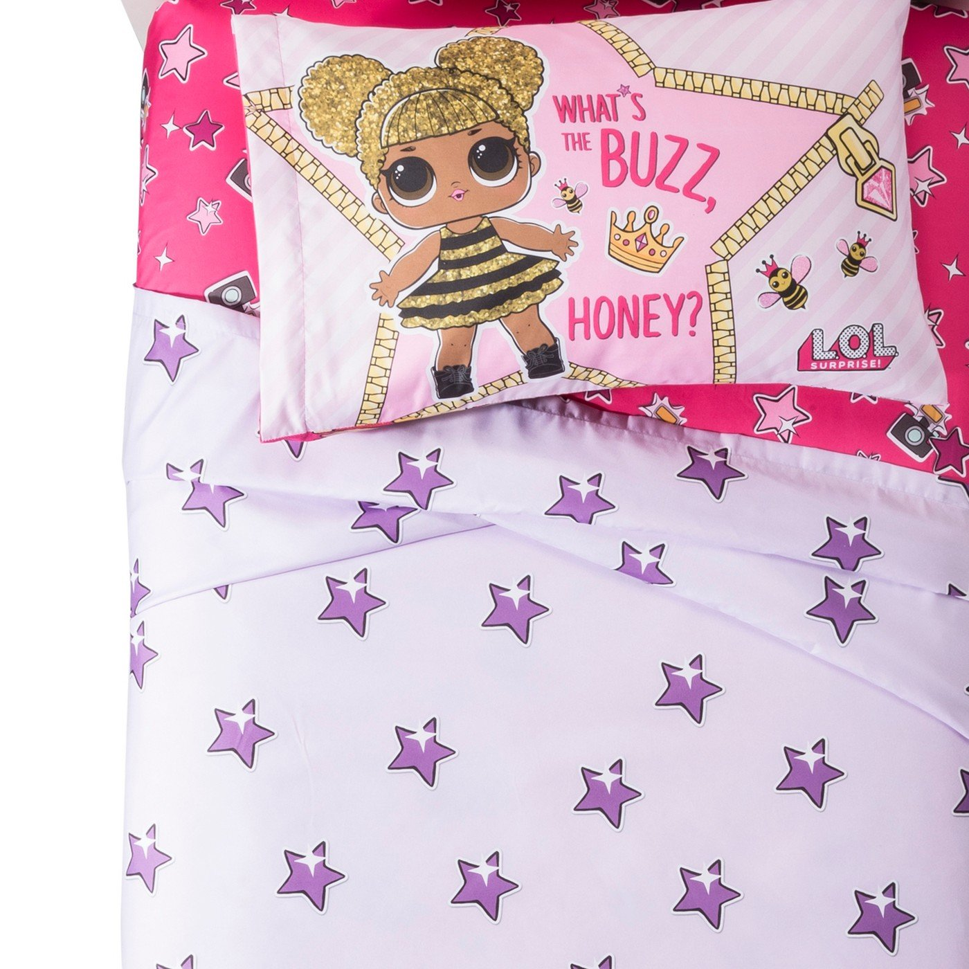 Surprise L.O.L Glitterful Twin Sheet Set