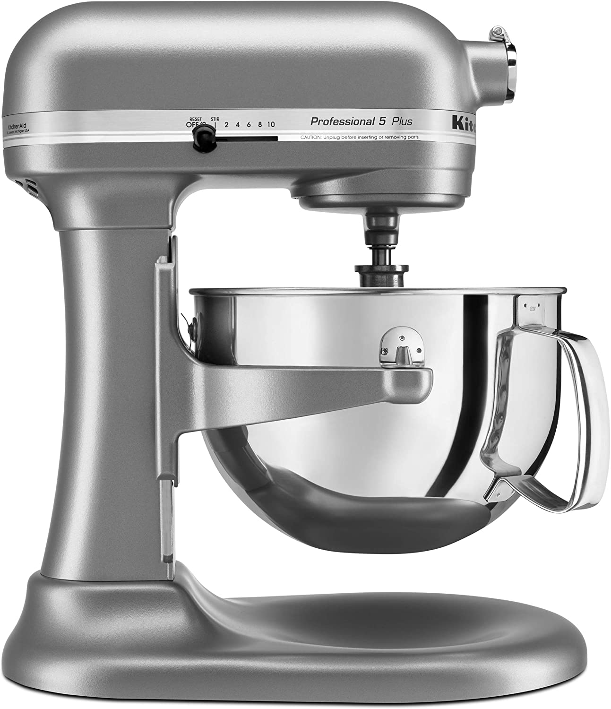 Amazon Com Kitchenaid Professional 5 Plus Series Stand Mixers Silver Kitchen Dining