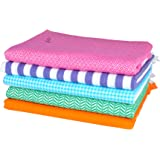 Sathiyas Supreme Multicolor 100% pure soft cotton Bath Towels - Pack of 5 (Multi 1)