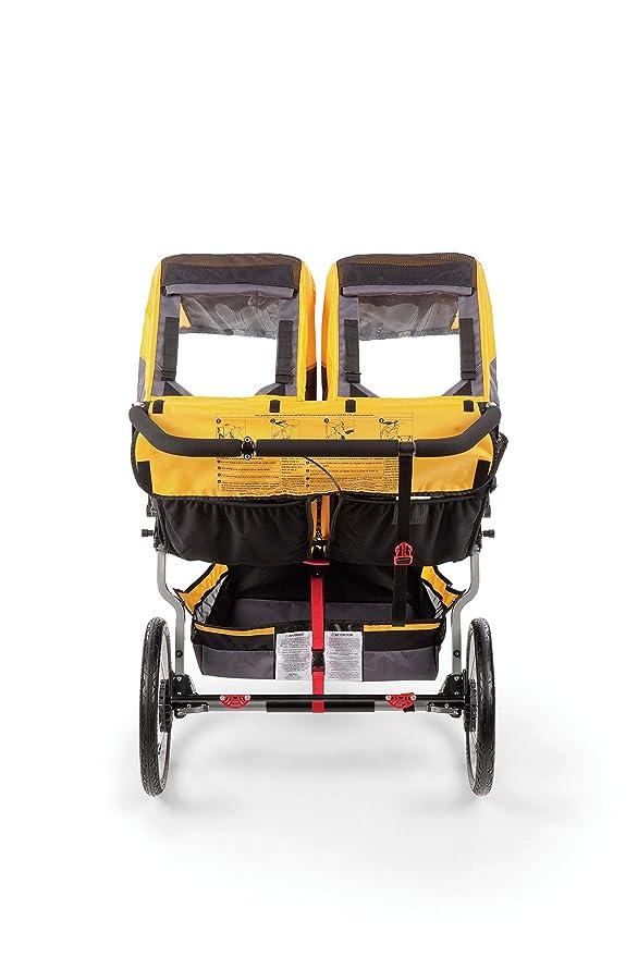 BOB Ironman Duallie - Cochecito todoterreno gemelar de 3 ruedas, color gris y naranja: Amazon.es: Bebé