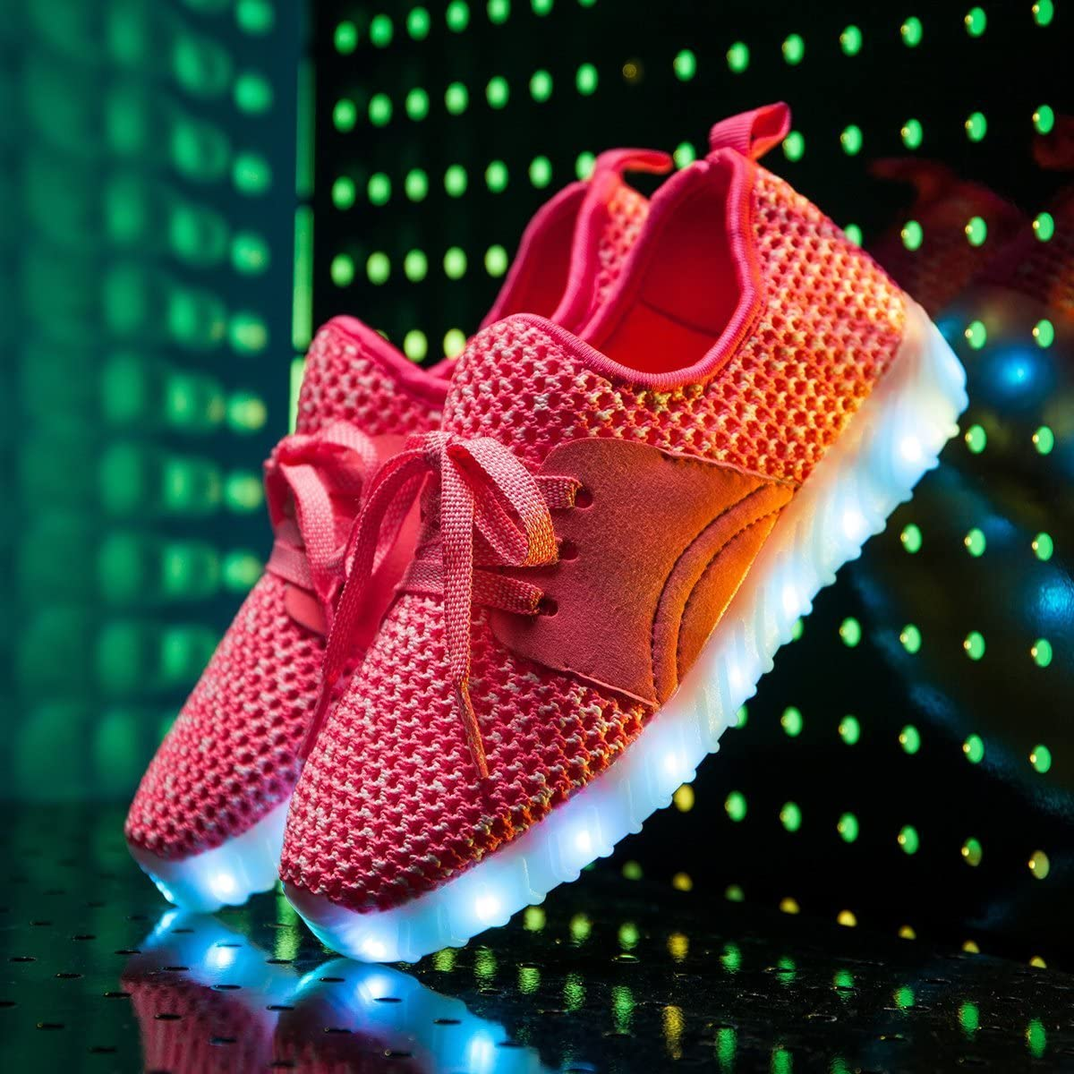 Pink - 34//3M US Little Kid A2kmsmss5a Kids Shoes Led Fashion Led Sneakers with Colorful Boys Luminous Sneakers Girls White Light up Shoes