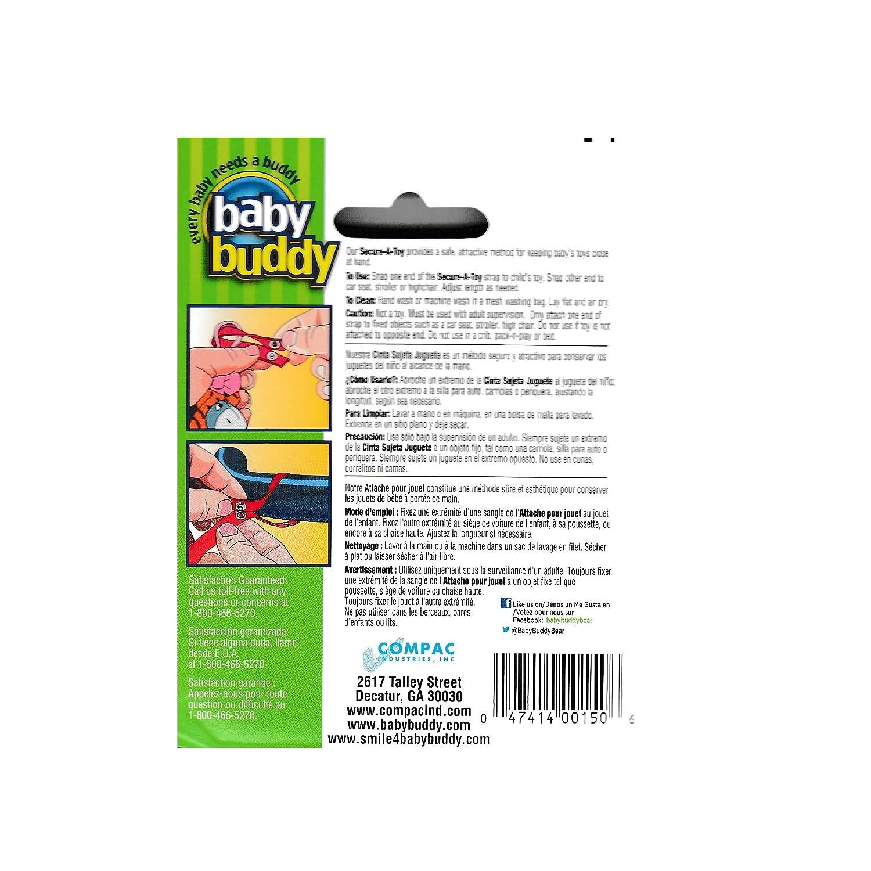 Baby Buddy - Cintas para sujetar juguetes, color rojo y azul ...
