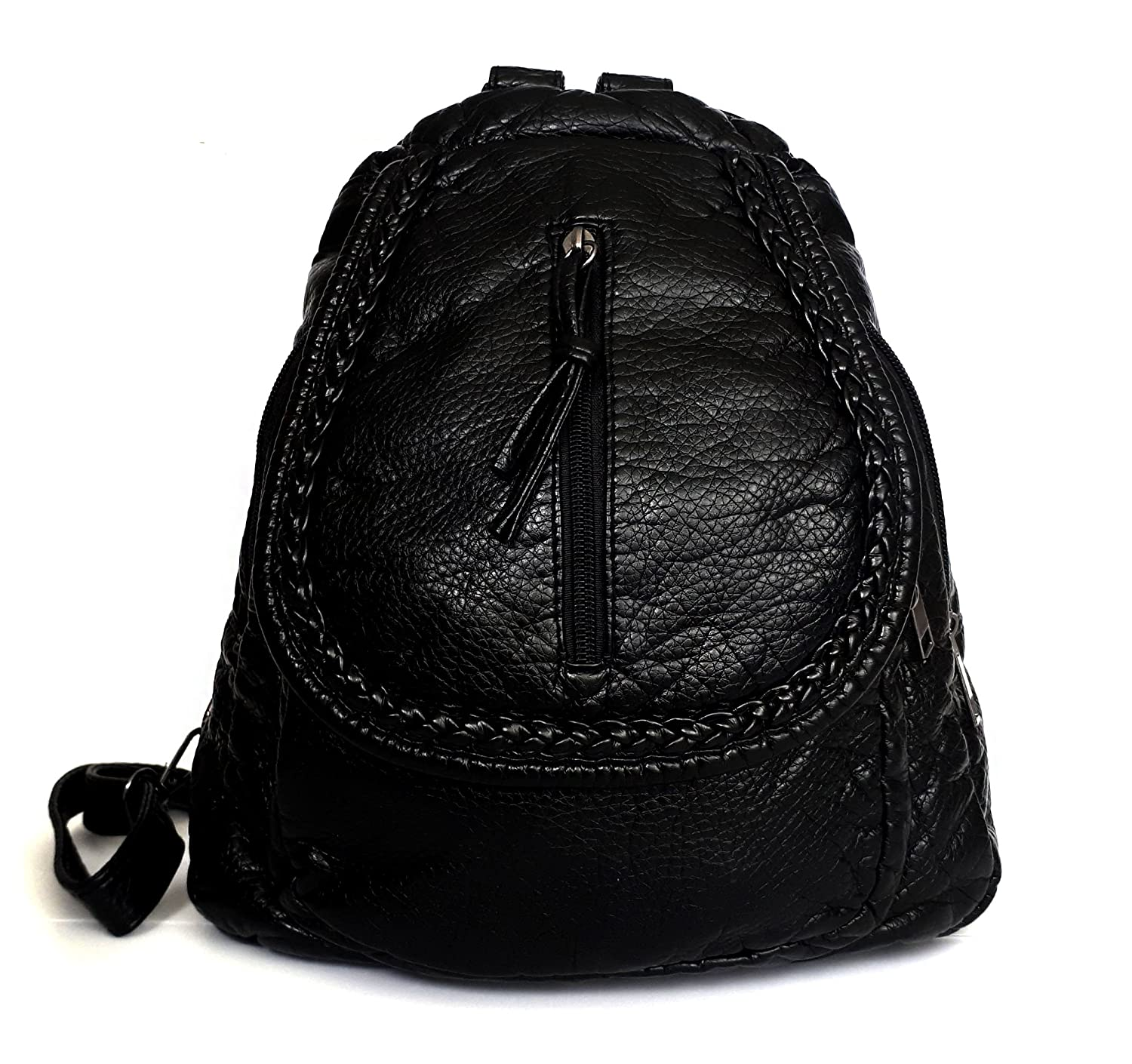 Backpack for Women Black Ladies Purse Fashion Urban Casual Stylish Cute Modern Chic for Everyday C14