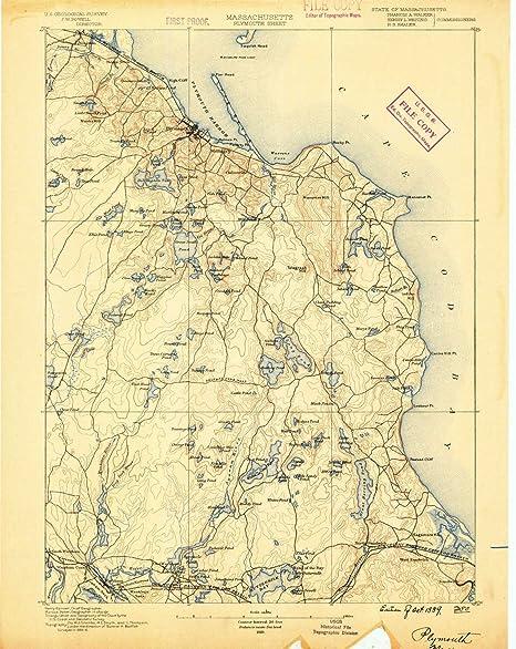 Amazon com : YellowMaps Plymouth MA topo map, 1:62500 Scale, 15 X 15