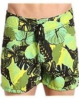 Sauvage Laguna Surf Swim Short Green Flower