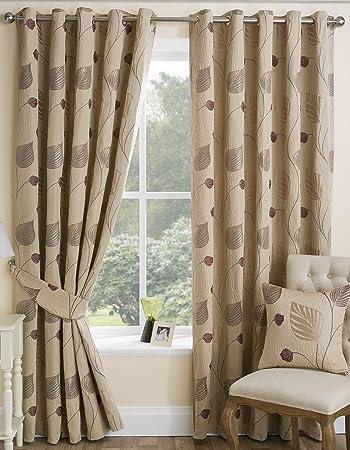 Seth Lined Eyelet Curtains 90