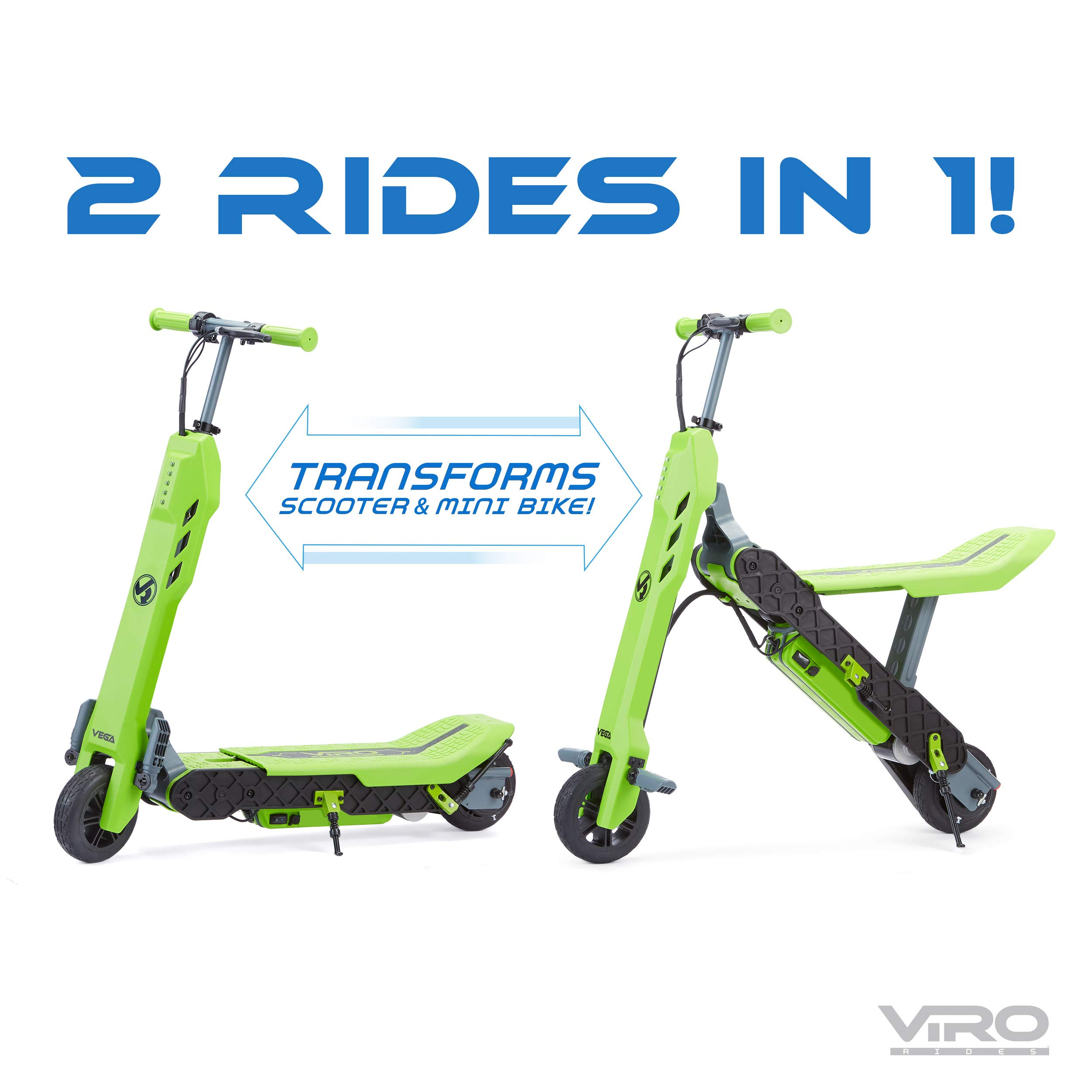 Viro Rides Vega Transforming 2-in-1 Electric Scooter and Mini Bike UL 2272 Certified by Viro Rides (Image #2)