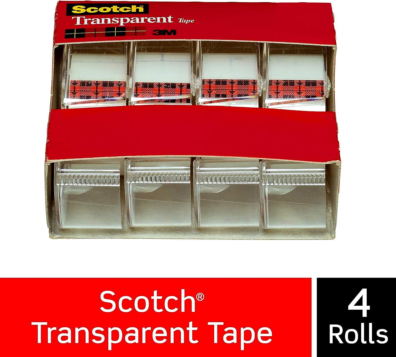 Scotch Ruban adh/ésif transparent 3//10,2/x 2/159/cm 4814 4/rouleaux