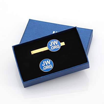 8a8515969ad0 Amazon.com: Perfect JW.Org Gift-Jw.org Necktie Clip and Lapel Pin Set With  JW.ORG Logo Gift Box-Round-Gold+Blue