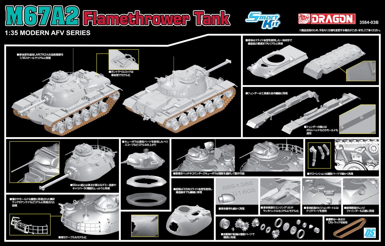 Dragon Models 1//35 M67 Flamethrower Tank Dragon Model Kits