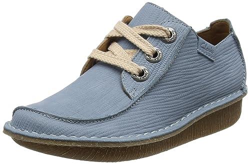 Funny Dream, Zapatos de Cordones Brogue para Mujer, Azul (Blue Grey), 37.5 EU Clarks
