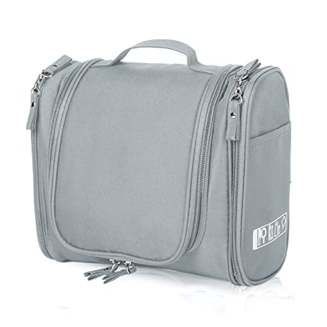 Amazon.com  Hanging Toiletry Bag Travel Cosmetic Kit - Large Essentials  Organizer - Sturdy Hook Makeup bag - Heavy Duty Waterproof for Men and  Womens ... 8f2b8167ff91a