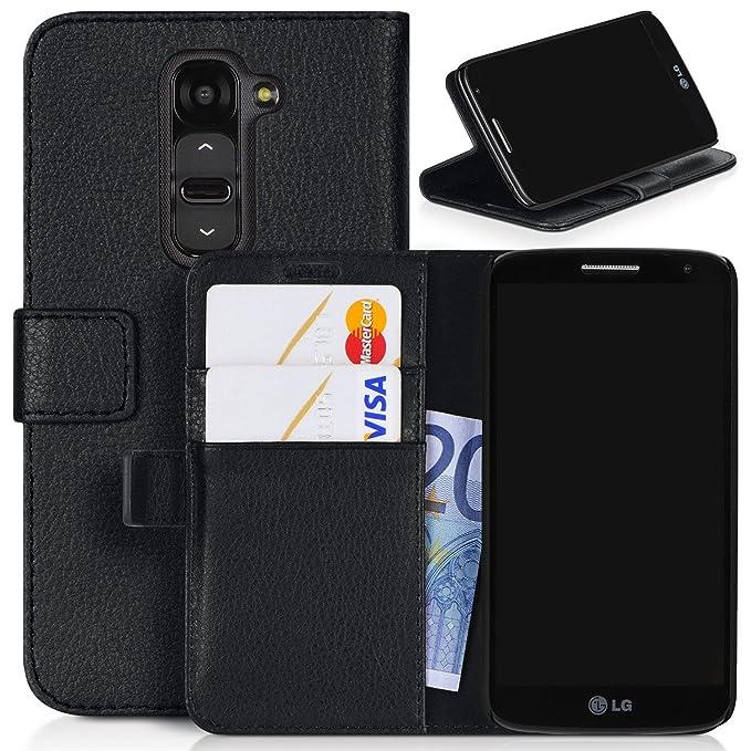 LOGSELL carcasa para LG G2 VS980, tipo cartera Carcasa Funda ...