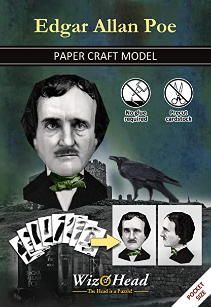 LEGO Edgar Allan Poe Raven and Door Custom Poet Writer of Poem /& Tales Minifigure