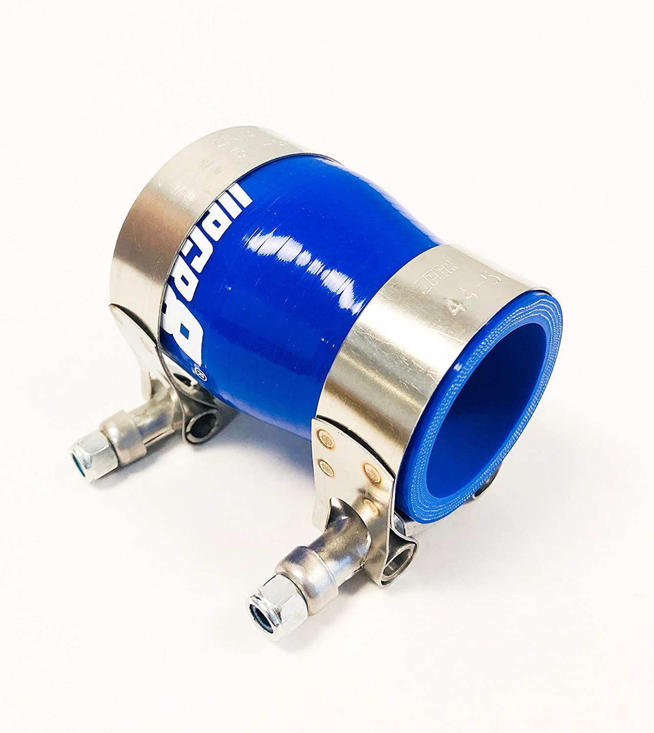 3-3.25 Blue Upgr8 Universal 4-Ply High Performance 3 to 3.25 Straight Reducer Coupler Silicone Hose 76mm to 83mm T Bolt Clamp