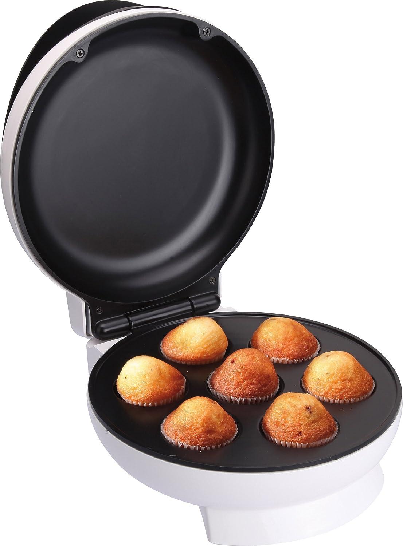 Jata GM 750 Grill Magdalenas Y Cupcakes 7 Cavidades, 1500 W, 0 Decibeles, Acero Inoxidable, plástico, blanco